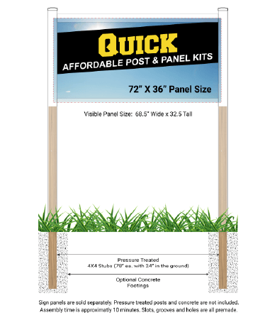 Quick Post & Panel Kit
