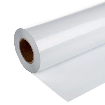6mil Gloss White Calendered Vinyl Media-Permanent Clear Adhesive