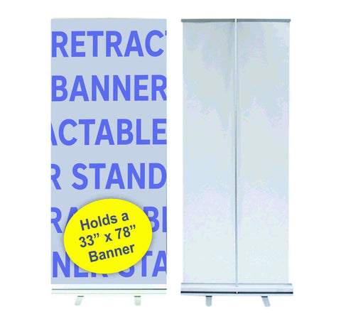 "Retractable Banner Stand 32"" x 78"""
