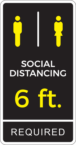 Social Distancing Decal 13x25""