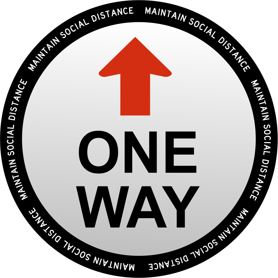 One Way Decal 18 x 18""