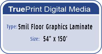 5mil Floor Graphics LAM 54x150'