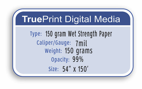 "150 Gram Wet Strength Paper 54""x150'"