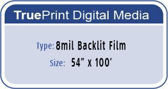 8mil Backlit Film 54 x 100'
