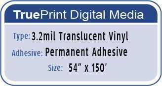 TruePrint 3.2mil Translucent 54""