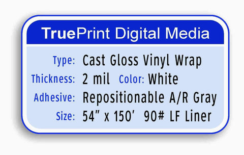"TruePrint Cast Wrap Material 54"" x 150'"
