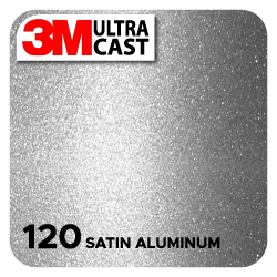 Satin Aluminum (120) 3M Ultra™ Cast