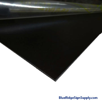 Black Gloss Aluminum Sheet 4 x 8 x .040""
