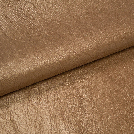 PIECE OF GOLD PUMPED BOVINE LEATHER