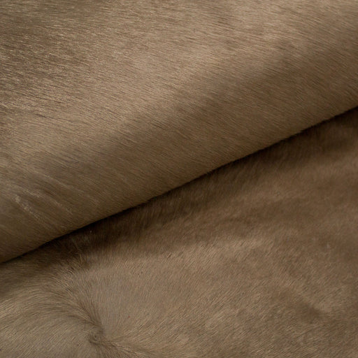 PIECE OF BROWN HAIR LEATHER