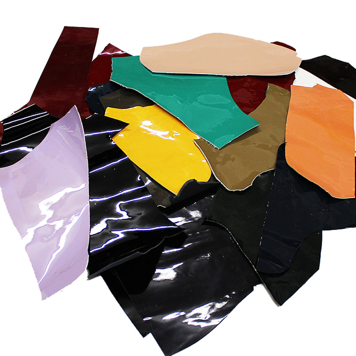 1 KG PACKAGE. PATENT LEATHER RETAL IN VARIOUS COLORS