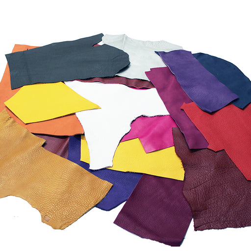 PACKAGE OF 2 KG. OF PUMPED BOVINE LEATHER IN VARIOUS COLORS