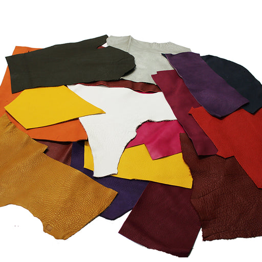 PACKAGE OF 1 KG. OF PUMPED BOVINE LEATHER IN VARIOUS COLORS