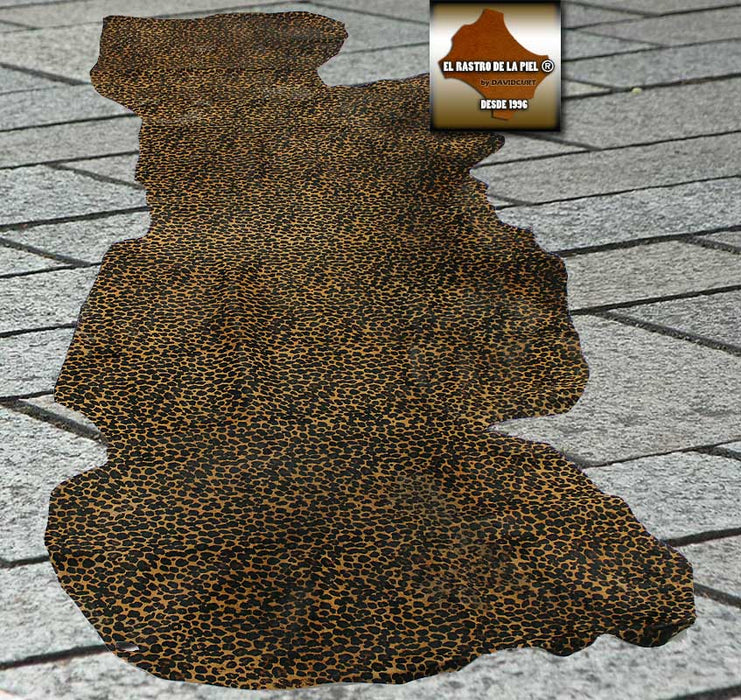 BROWN LEOPARDINE HAIR SKIN REF. P-113-19