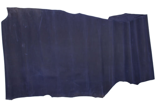BLUE OILED COW LEATHER