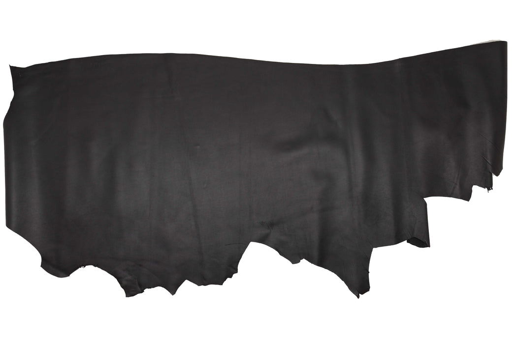 BLACK OILED COW LEATHER