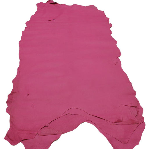 PINK CHEWED IRONED PIG LEATHER