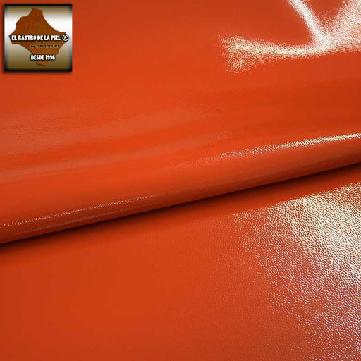 PATENT LEATHER EMBOSSED ORANGE REF. CH-047-1112