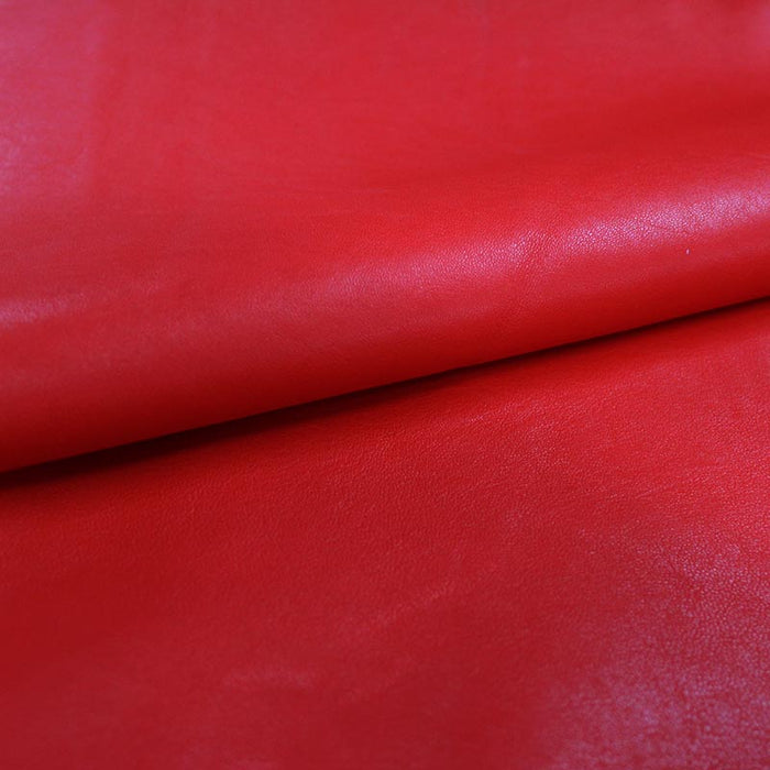 RED LAMB LEATHER
