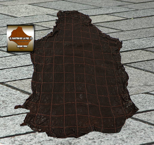 FANTASY LEATHER BLANKET RUSTIC LAMB BROWN