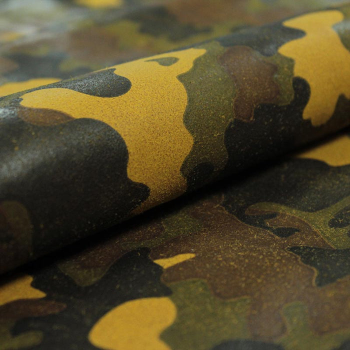 FANTASY MUSTARD CAMOUFLAGE SUEDE LEATHER
