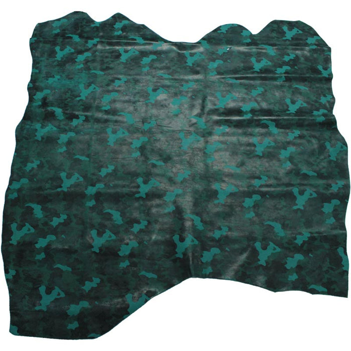 FANTASY SUEDE LEATHER TURQUOISE CAMOUFLAGE