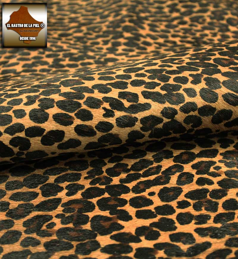 BROWN LEOPARDINE HAIR SKIN REF. P-114-22