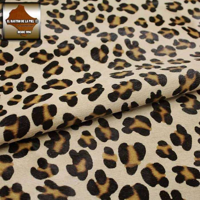 LEOPARD HAIR LEATHER CAMEL REF. P-112-2829