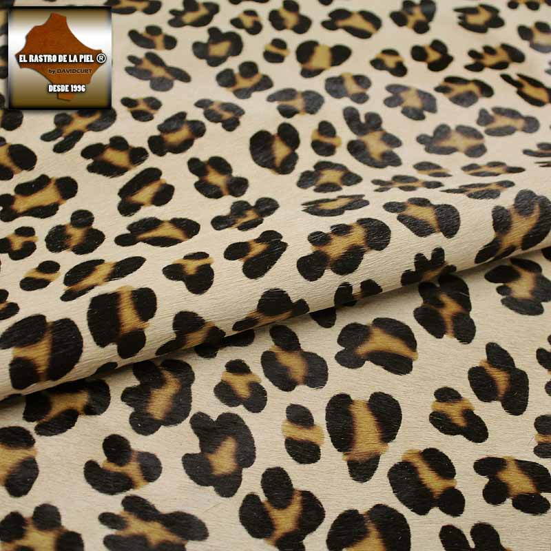 LEOPARD HAIR LEATHER CAMEL REF. P-104-30