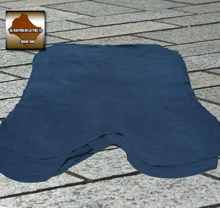 BLUE PLUSHED SUEDE LEATHER REF. S-461-89