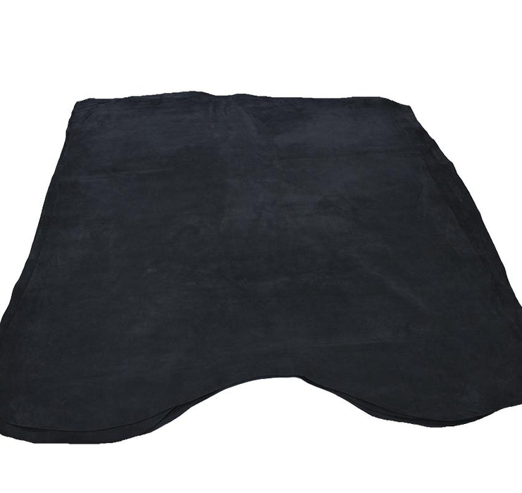 DARK BLUE PLUSH SUEDE LEDER