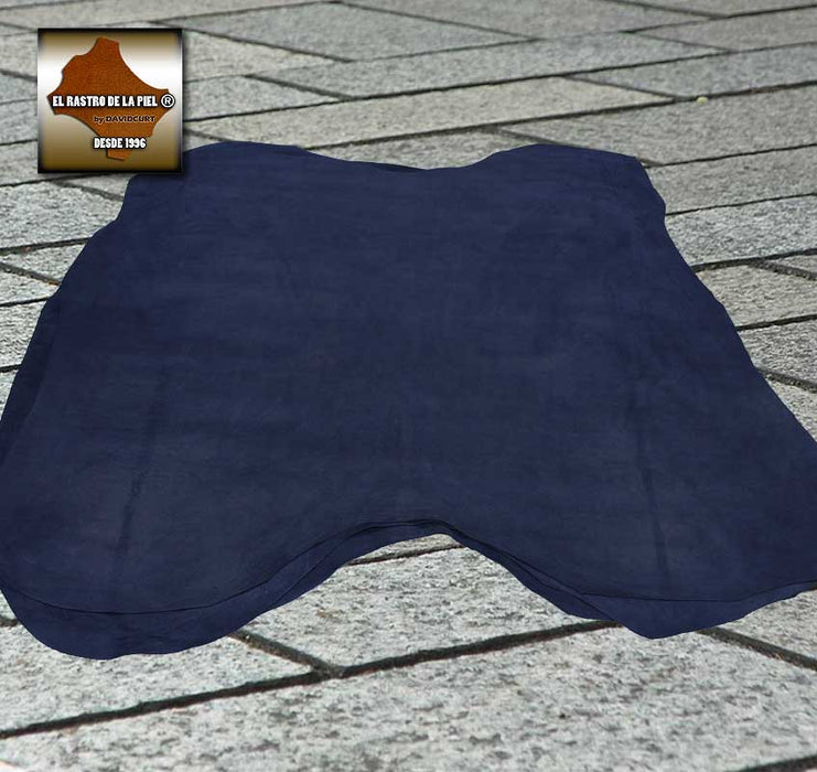 DARK BLUE PLUSH SUEDE LEATHER REF. SC-002-1011