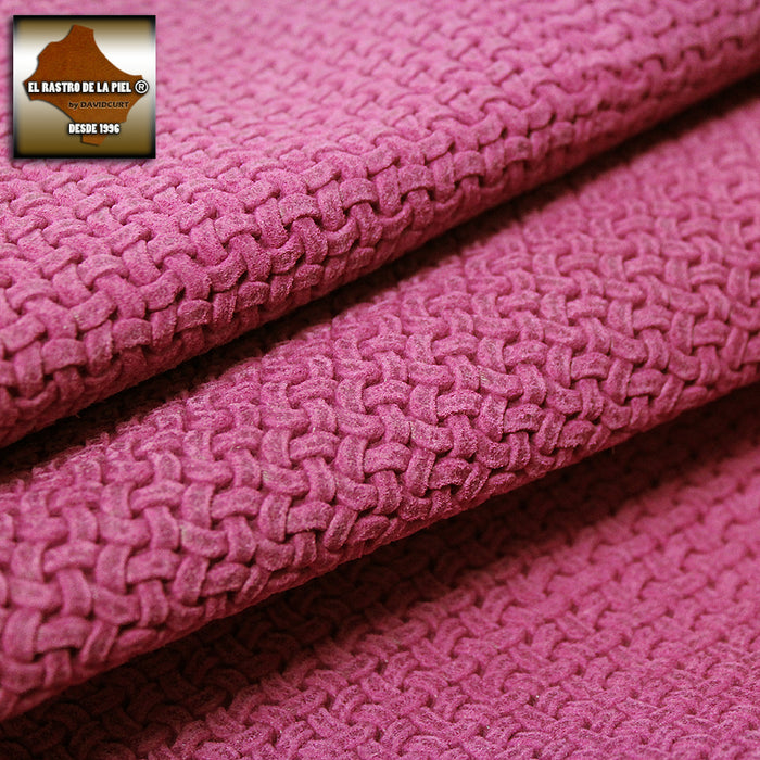 PINK KNOTS ENGRAVED SUEDE LEATHER REF. CO-335-22