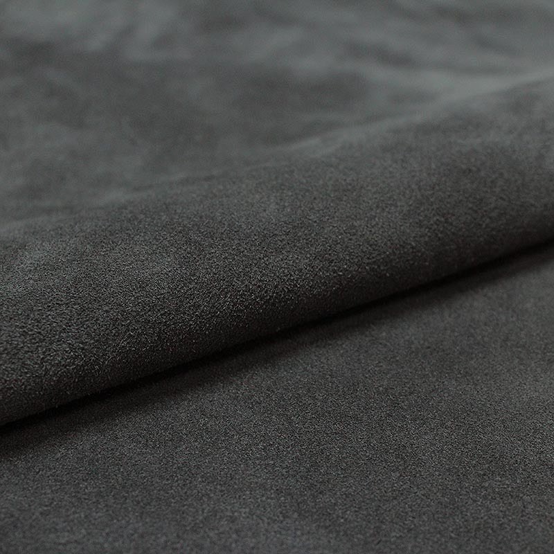 DARK GRAY PLUSH SUEDE LEATHER