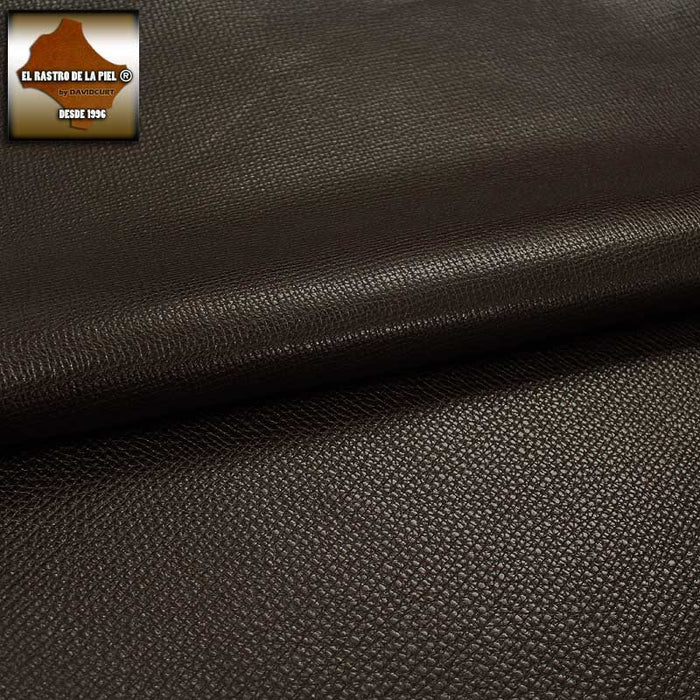 CHOCOLATE PUMPED BOX LEATHER REF. V-1095-2324