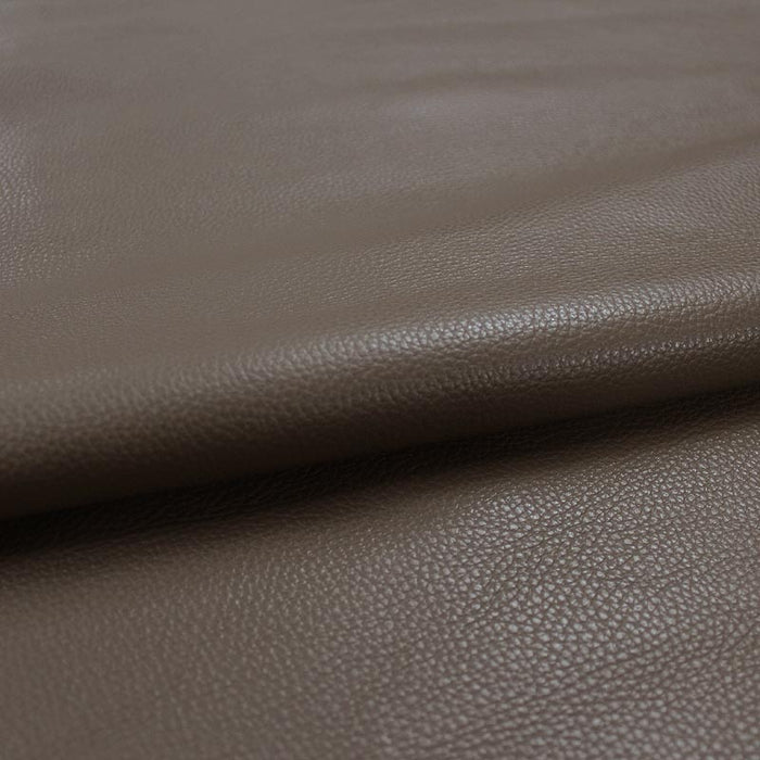 TAUPE PUMPED COW LEATHER