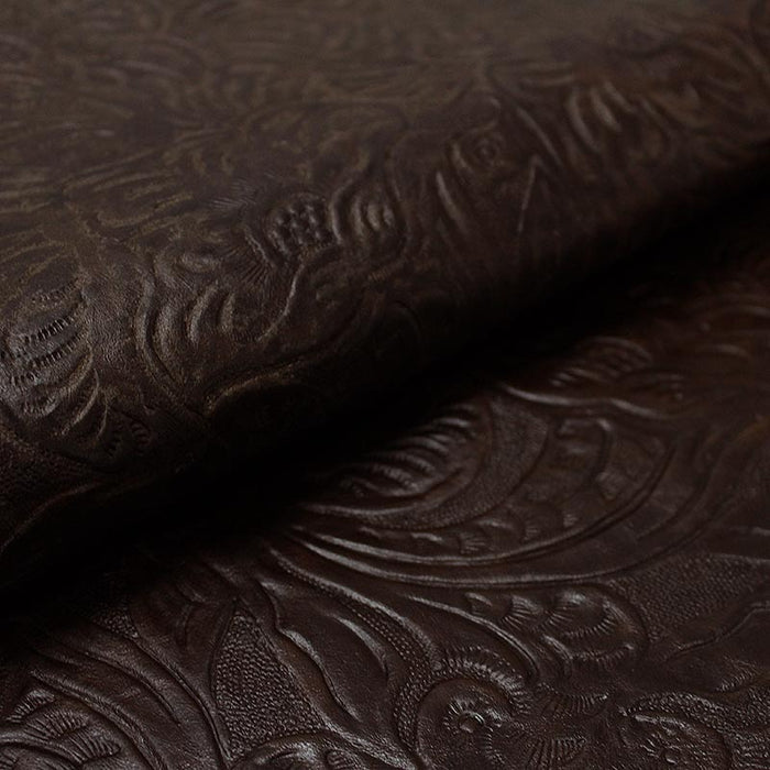 Worn BROWN CASTILIAN ENGRAVED COW LEATHER
