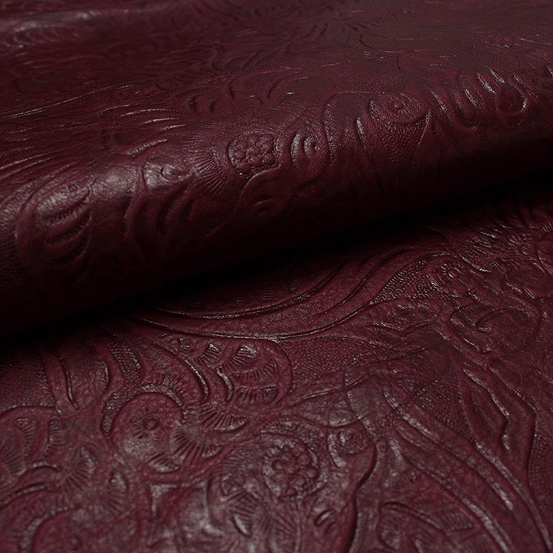 BOVINE LEATHER ENGRAVED PURPLE SPANISH AGED