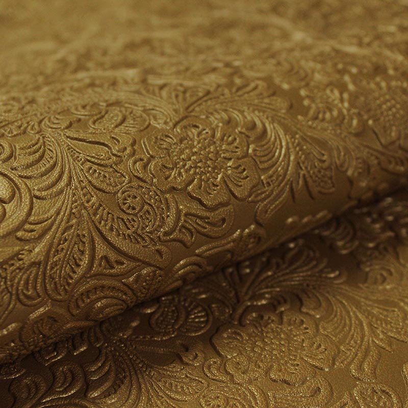COW LEATHER ENGRAVED SPANISH MUSTARD