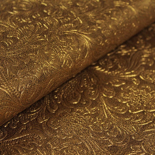 GOLDEN CASTELLANO EMBOSSED LEATHER OF GOLD