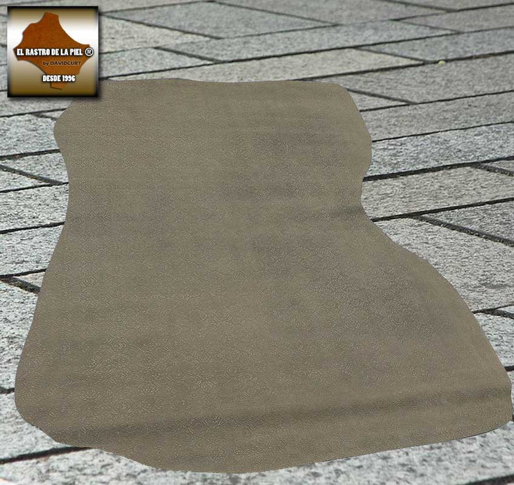 ENGRAVED SPLIT LEATHER SPANISH TAUPE REF. CO-332-16