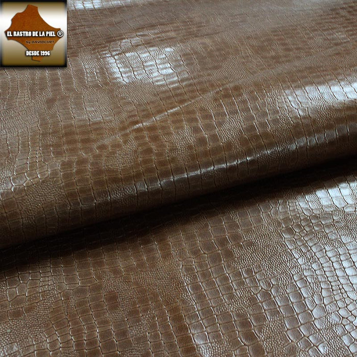 BOX LEATHER ENGRAVED COCO BROWN SPANISH BACKGROUND REF. CO-388-2829