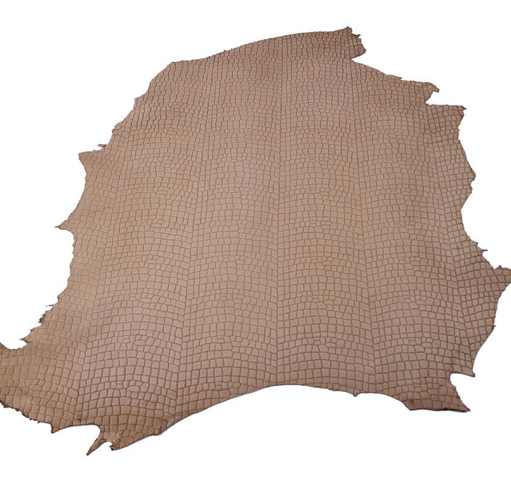 COCONUT NATURAL ENGRAVED COW LEATHER