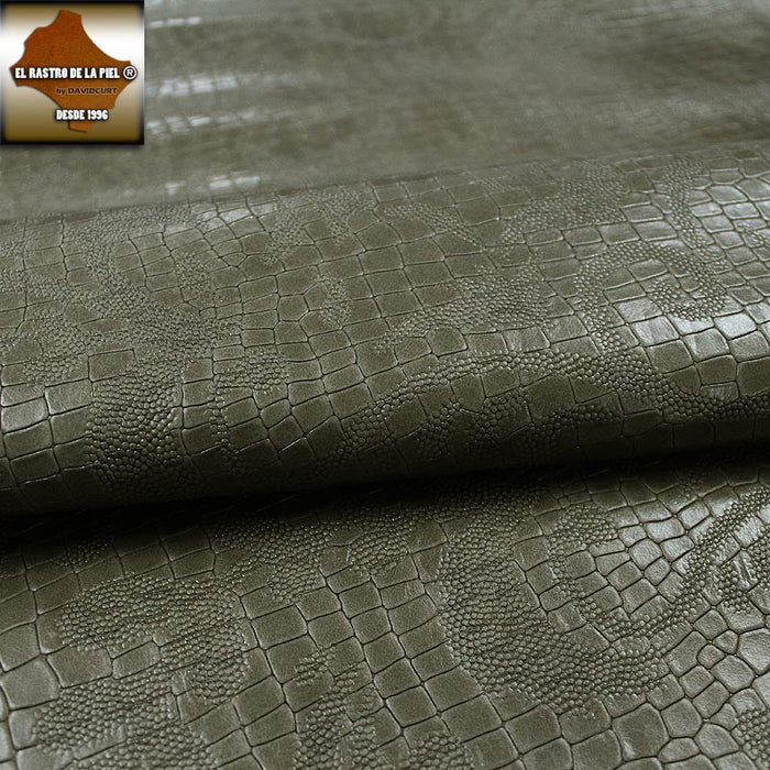 COCO TAUPE ENGRAVED COW LEATHER SPANISH BACKGROUND REF. CO-389-2728