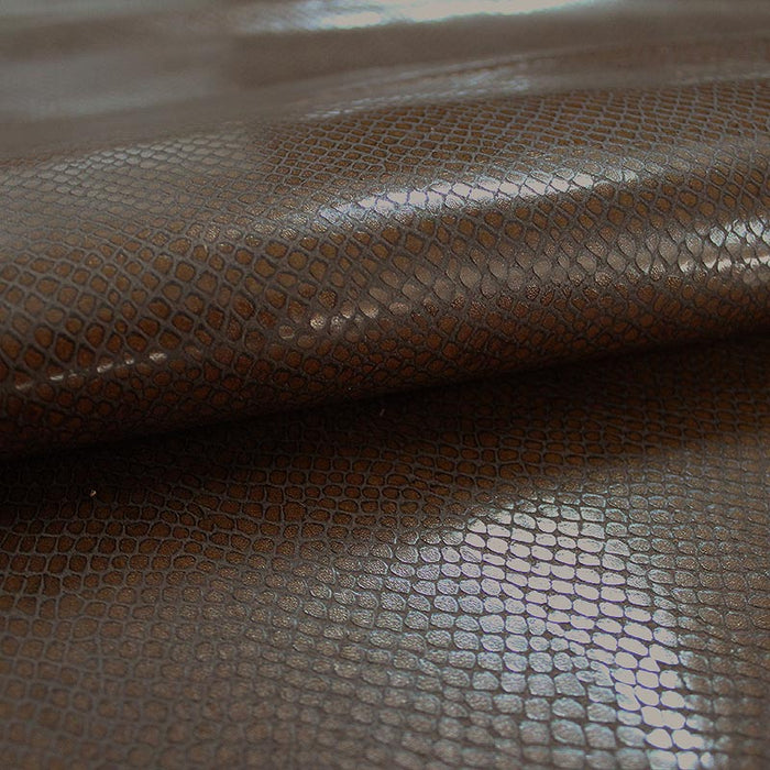 BROWN AGED BROWN SNAKE ENGRAVED LEATHER REF. CO-617-20