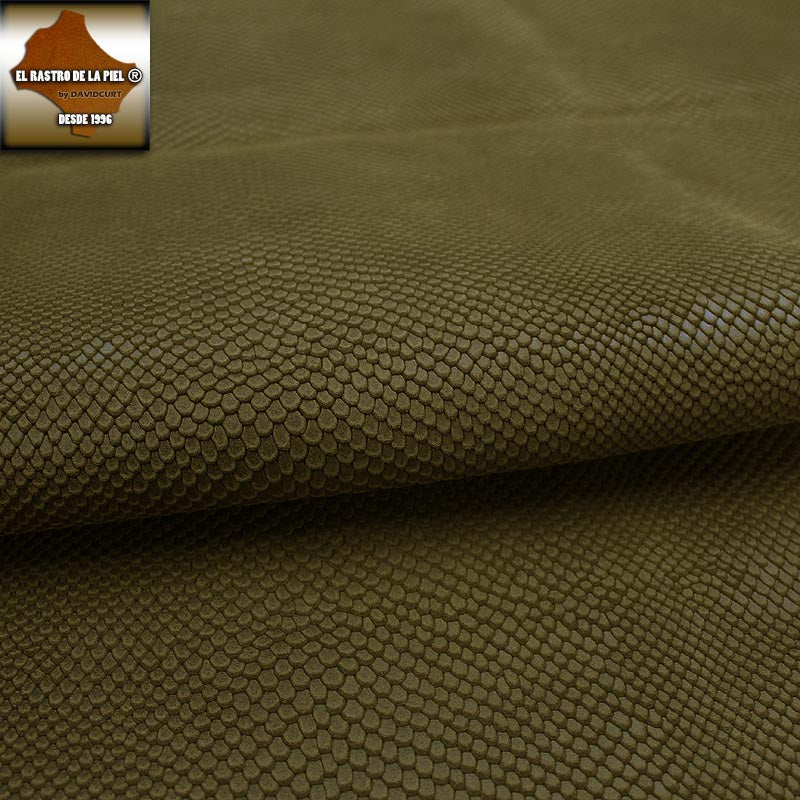 TOASTED BROWN SNAKE ENGRAVED SUEDE LEATHER REF. CO-421-2223