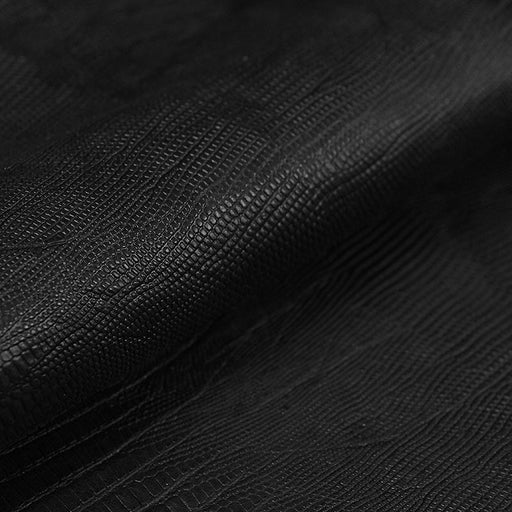 BLACK TEJUS EMBOSSED GOAT LEATHER