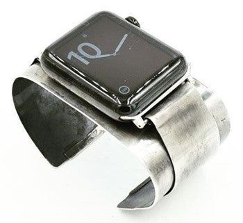 An Apple Watch on a Sterling Silver cuff by Jill Herlands.