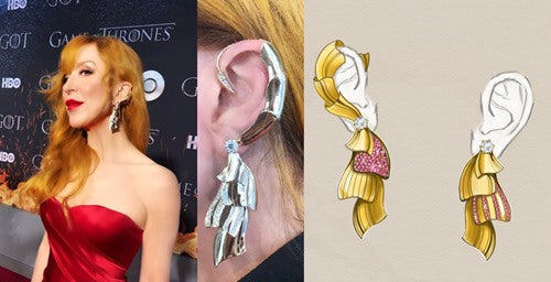 Game of Thrones Ear Armor by Bugge and Authen and designed by Vera Bublyk - a Norwegian Jewelry designer