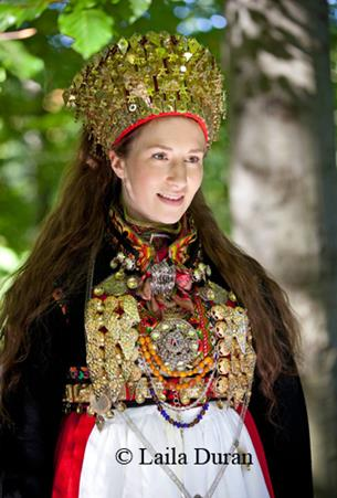 Hilde Nødtvedt makes filigree jewelry for the Bunad - The Norwegian Traditional Dress worn on May 17th.